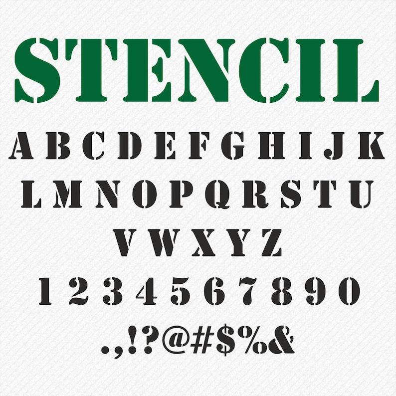 Stencil svg, Army font svg, STENCIL Letters Svg, Stencil Monogram Font,  Stencil Alphabet SVG, Stencil Font Svg, Silhouette, Cricut Svg