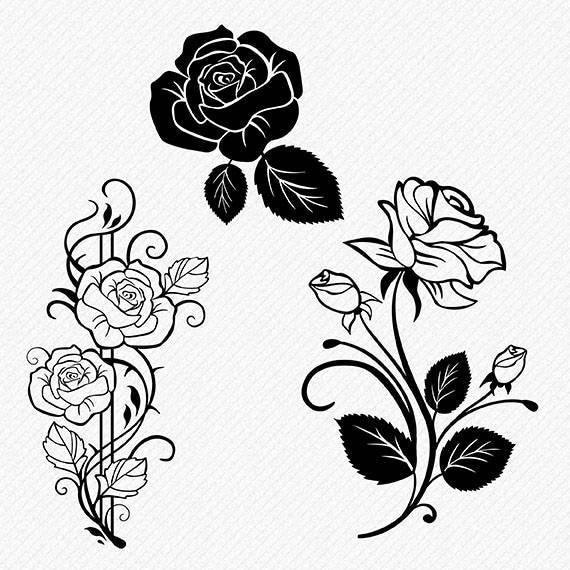 Download Floral SVG Flower Svg Rose Cricut Silhouette Brother Rose ...