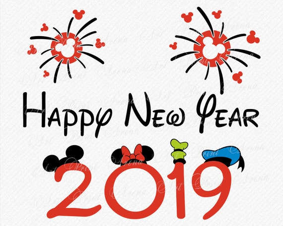 Disney Happy New Year SVG 2019 Vector and Clipart | Etsy