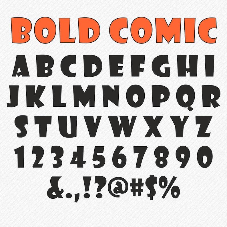 Bold SVG Font Comic fonts svg bold script gothic svg font script kids  alphabet Cricut Silhouette Cameo cut cutting digital download