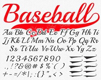 Baseball Font svg, SVG Fonts, Baseball SVG font, Baseball Alphabet, Baseball Letters, SVG font for cricut, Silhouette - svg, eps, dxf, png