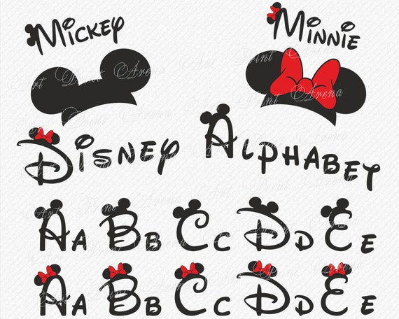 Mickey Mouse Schrift