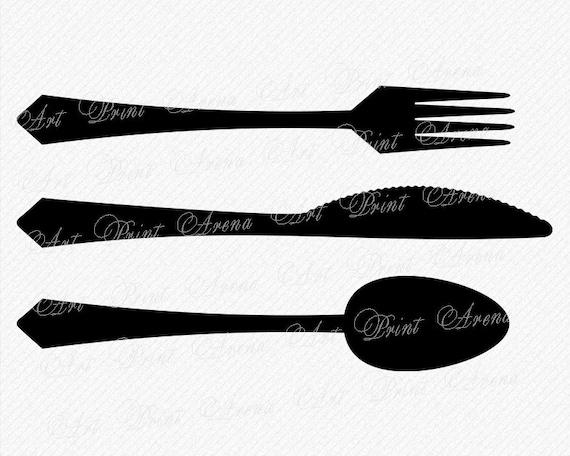 Knife SVG, Fork SVG, Spoon SVG, Knife Fork svg, Restaurant Logo svg,  Restaurant svg, Cricut and Silhouette svg, eps, png, dxf