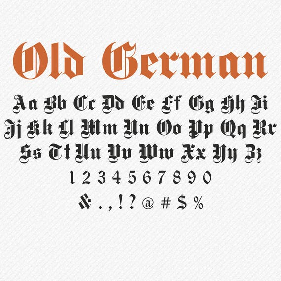 Font old english gothic
