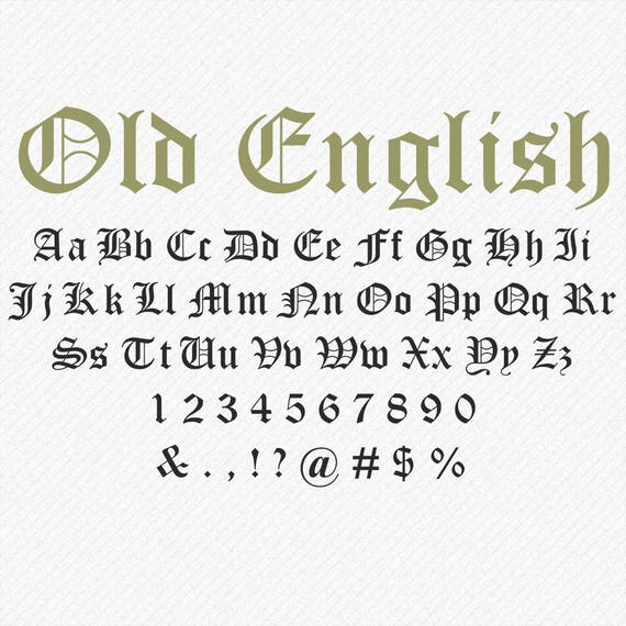 Old English Font SVG Script Monogram