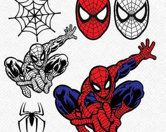 Spiderman SVG, Spiderman silhouette, spiderman svg files, Spiderman Vector, Spiderman Cut Files, Vinyl Cutters, , eps, png, dxf
