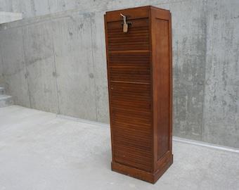 Single Tambour Filing Cabinet