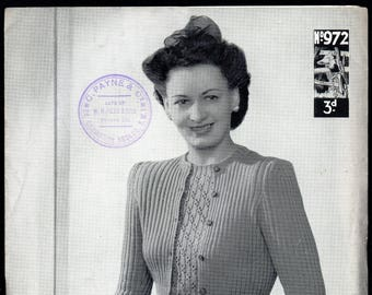Lister Lavenda Lady's Primrose Twin Set Knitting Pattern, 1930s/40s