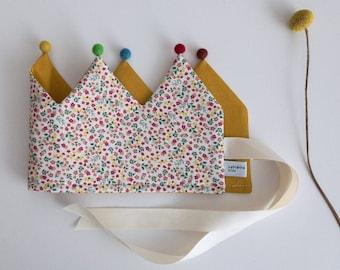 """Fabric Crown * Birthday Crown * Children's Crown """"Flower Magic"""""""