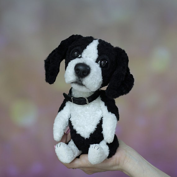 Made To Order Miniature Dog Pocket Size Stuffed Cuddly Toy Etsy