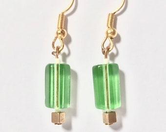 Earrings - tropical green-