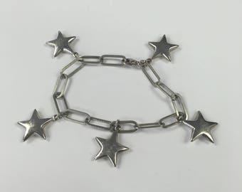 Sterling Silver Star Earrings and Bracelet