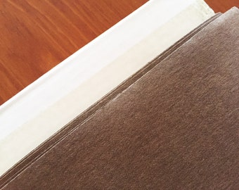 Washable paper fabric - Kraft-tex Chocolate - Washable Paper - Made from paper, looks like leather, washes like fabric - eco/vegan friendly