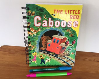 Week to a Spread Dairy - The Little Red Caboose up-cycled Little Golden Book