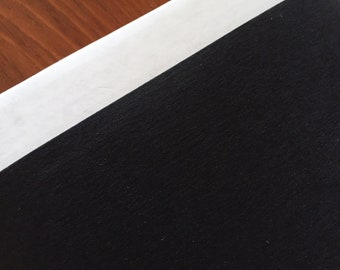 Washable paper fabric - Kraft-tex Black - Washable Paper - Made from paper, looks like leather, washes like fabric - eco/vegan friendly