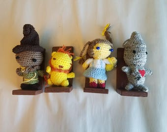 Amigurumi Wizard of Oz complete set of four