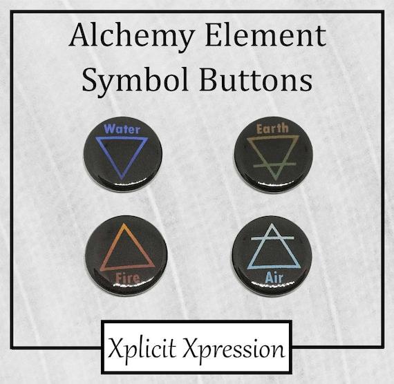 Alchemy Element Symbols 1 Pinback Buttons Etsy