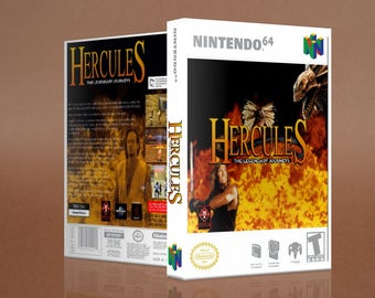 Hercules The Legendary Journeys Custom Game Case N64 Nintendo 64