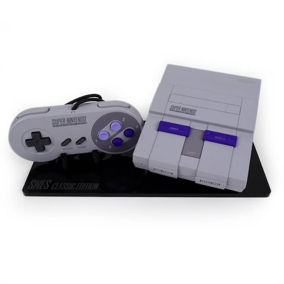 Snes Super Nintendo Classic Display Stand Shelf Candy Etsy