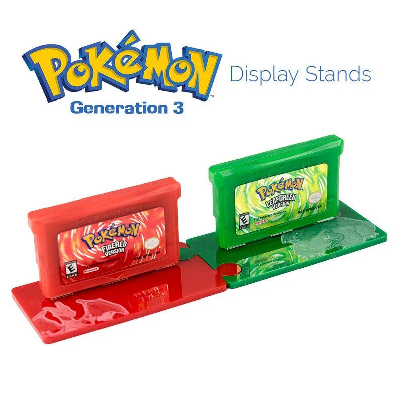 Pokemon Generation Three Continued Cartridge Display Stands Fire Red and Leaf Green