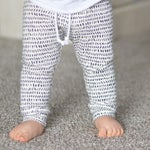 Dash Leggings or Joggers  || Black & Off White || Infant, Baby or Toddler Pants