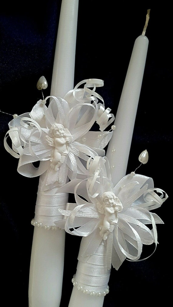 Christening candle Holy Communion Church candle Christening ceremony candle 30cm