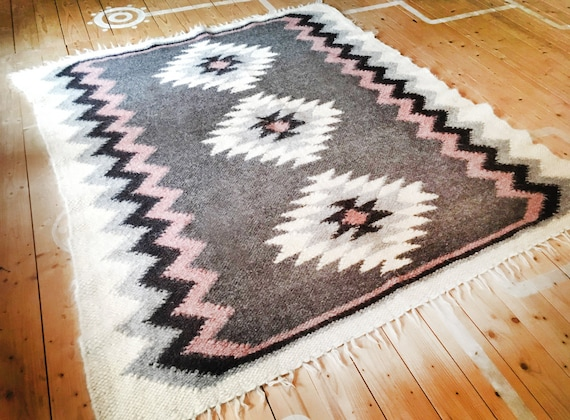 Rug Wool Rugs Nursery Rug Hooked Rugs Nursery Decor Home Etsy