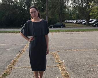 Gray Cape Dress