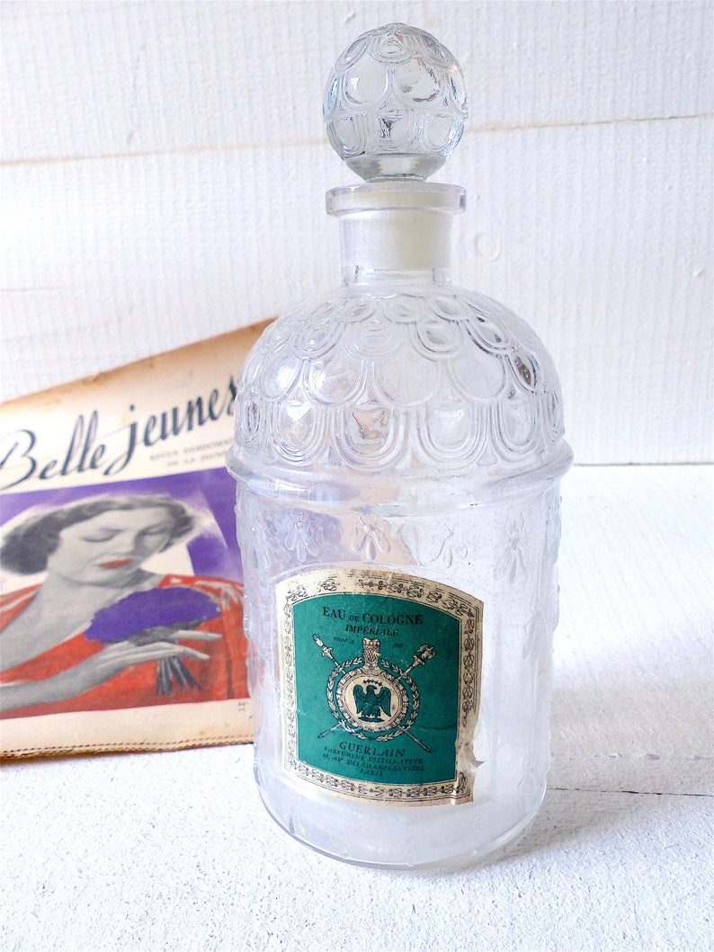 Paris Shabby Guerlain Flacons Parfum In Vintage France Salle Français Collection Abeilles Decor De Bain Made MGSqUzVp