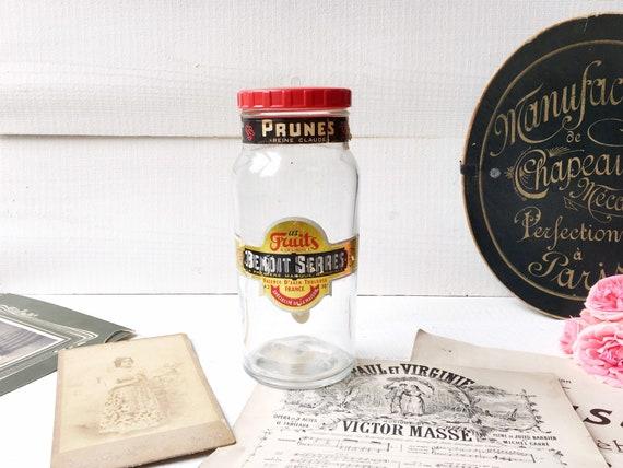 Bocal Vintage Francais Pot A Prunes Fruits Reine Claude Decor Etsy