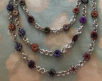 Avengers Chainmaille Whirlybird necklace Three Strand