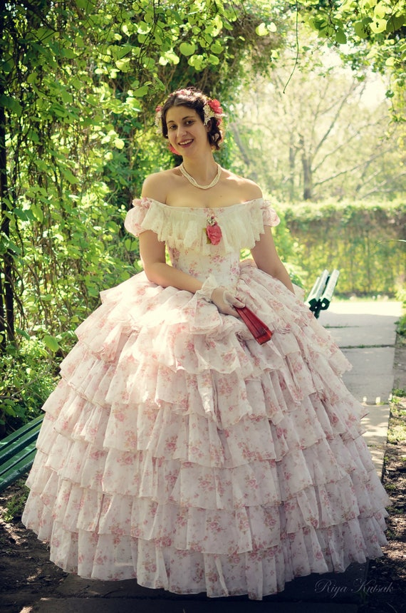 Steampunk Wedding Dresses | Vintage, Victorian, Black Victorian Crinoline Ball and Wedding Gown $1,200.00 AT vintagedancer.com