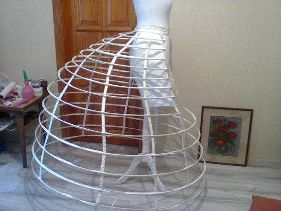 Late 1860s Elliptical Cage Crinoline  Victorian Hoop by Etsy