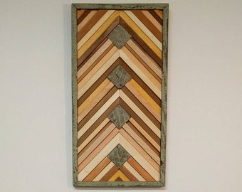 RECLAIMED WOOD wall art rustic wood frame Danny Siggers