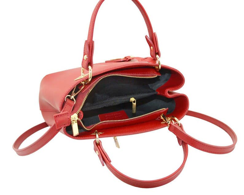 3536dabf0 VALENTINA Italian Tote handbag front stitching smooth stiff | Etsy