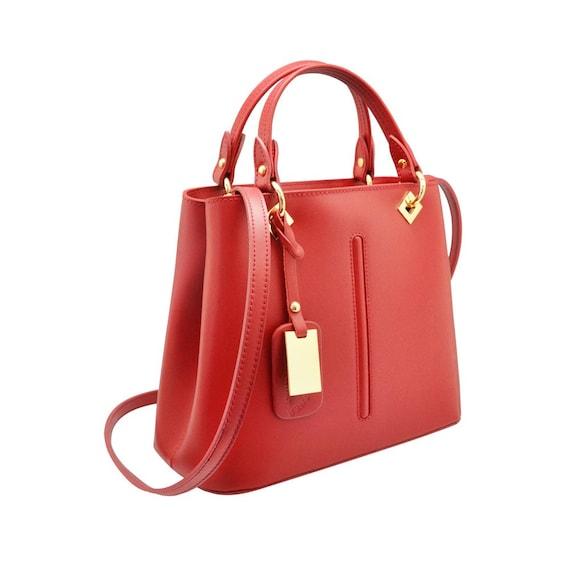 bc67ab71c8e VALENTINA Italian Tote handbag front stitching smooth stiff   Etsy