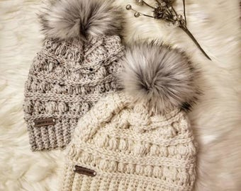 Made to Order, The Bobble Hat, Crochet Hat, Women's Winter Hat