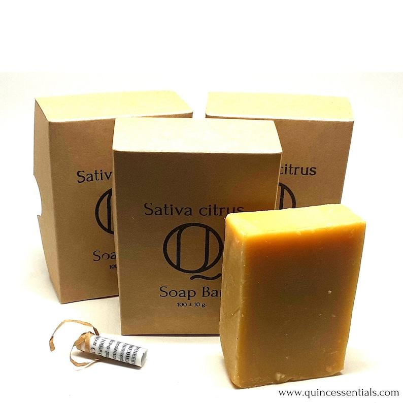 Hemp Soap Bars  3 x Sativa Citrus Super Rich 35% Local image 0