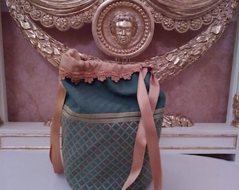 Vintage handbag, handbag style 1800, handbag costume 1800, 1800 handbag, vintage Handtasche, porte-monnaie vintage