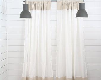 Farmhouse Curtains Etsy