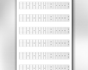picture about Printable Blank Guitar Chord Chart named A4 printable guitar blank chord chart diagrams. Songwriting