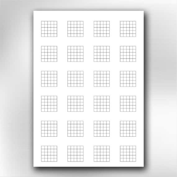 A4 Printable Guitar Blank Chord Chart Diagrams