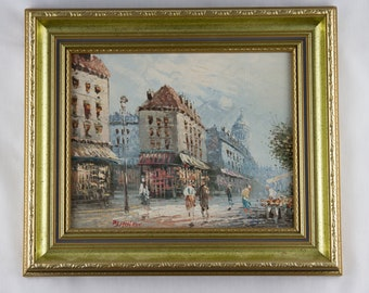 Antique Oil Painting on Board, Claire Burnett, Oil Painting