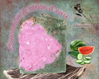 Care cucumber oil watermelon soap artisanal aloe