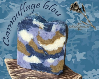 Camouflage soap armed blue green pink handmade soap