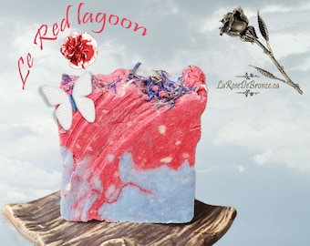 The Red Lagoon Lime, eucalyptus and mint barbassu handmade soap