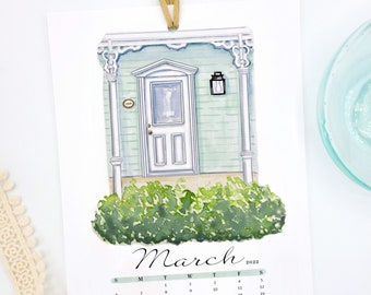 Historic Doors of Perrysburg Ohio Calendar, Watercolor Calendar, Door Paintings | Door calendar | Desk Calendar | Perrysburg Ohio | Ohio Art