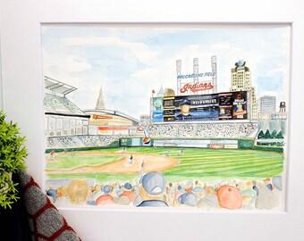 Favorite Place Painting | Custom Watercolor | Sports Painting | Honeymoon Painting | Vacation Painting | Venue Painting | Stadium Painting