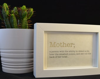 Urban Dictionary Wall Art / Mother Definition / Dictionary Art / Funny Definition / Word Art