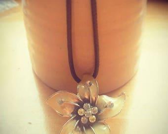 Lemon flower pendant necklace